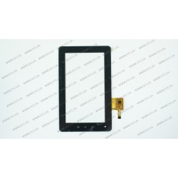 Тачскрин (сенсорное стекло) для планшета Flytouch C08S, PINGBO PB70DR8065_01, 7,  внешний размер 189*116 мм, внутренний размер 155*87 мм, 12 pin, черный
