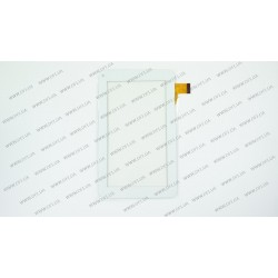 Тачскрин (сенсорное стекло) для Turbopad 701, HK70DR2069, 7, внешний размер 186*104 мм, рабочий размер 155*87 мм, 30 pin, белый