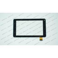 Тачскрин (сенсорное стекло) SCF0112-A DH-0720A1-FPC23-02, 7, внешний размер 186*106 мм, рабочая часть 156*86 мм., 30pin, чёрный