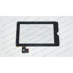 Тачскрин (сенсорное стекло) для Texet TM-7038w, PINGBO PB70DR8071-R1-G, 7, внешний размер 193*118 мм, рабочий размер 152*95 мм, 36 pin, черный