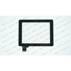 Тачскрин (сенсорное стекло) для 70352A0, 7, внешний размер 176*135 мм, рабочий размер 142*116 мм, черный