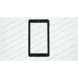 Тачскрин (сенсорное стекло) для Texet TM-7058 3G, PB70JG9391,  внешний размер 188*105 мм, рабочий размер 155*87 мм, 30 pin, черный