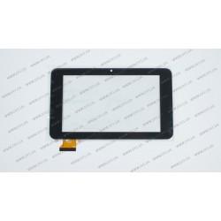 Тачскрин (сенсорное стекло) PINGBO PB70DR8173, 7,  внешний размер 192х113мм, рабочая часть 153х90мм, 50 pin, черный