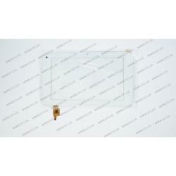 Тачскрин (сенсорное стекло) для Cube U18GT, PINGBO PB70A8561, 7, внешний размер 193*113мм, рабочая часть 153*90мм, 6 рin, белый