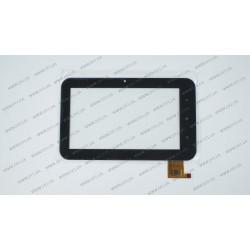 Тачскрин (сенсорное стекло) TPL-50152 HY TPC-50152 V1.0, 7, внешний размер 191*116 мм, внутренний размер 155*87 мм, 12 pin, черный