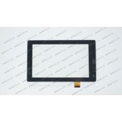 Тачскрин (сенсорное стекло) TPT-070-360 FHX, 7, внешний размер 187*114 мм, рабочая часть 155*91 мм, черный