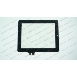 Тачскрин (сенсорное стекло) для Ainol Novo 8 Dream, HOTATOUCH C155196A1-DRFPC095T-V1.0, 8, внешний размер 195*155 мм, рабочая часть 163*122 мм, черный
