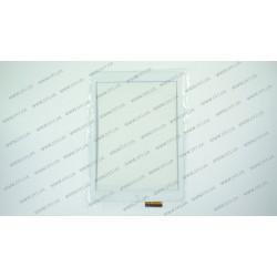Тачскрин (сенсорное стекло) RS9F490 WHY, 10,1, внешний размер 236*166 мм, рабочий размер 197*147 мм, 60 pin, белый