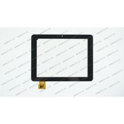 Тачскрин (сенсорное стекло) для 300-L4072A-B00-V1.0, 8, внешний размер 197*150 мм, внутренний размер 163*122 мм, 10 pin, черный