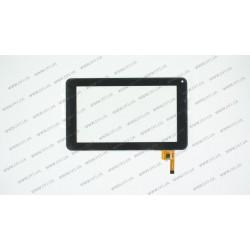 Тачскрин (сенсорное стекло) для Impression ImPAD 4113, 8-6221 JYT, 7, внешний размер 186*111 мм, рабочий размер 154*86 мм, 12 pin, черный