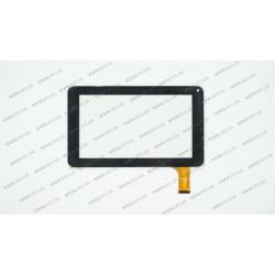 Тачскрин (сенсорное стекло) CZY6347A-FPC, 7, внешний размер 186*111 мм, рабочий размер 156*86 мм, 30pin, черный
