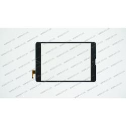 Тачскрин (сенсорное стекло) для Texet TM-7858 3G, 300-L4541J-C00, 8, внешний размер 195*130 мм, рабочий размер 161*121 мм, 6pin, черный