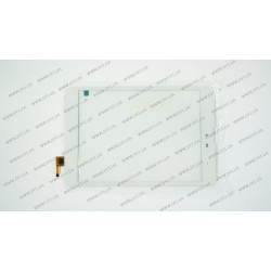 Тачскрин (сенсорное стекло) для Texet TM-7858 3G, 300-L4541J-C00, 8, внешний размер 195*130 мм, рабочий размер 161*121 мм, 6pin, белый