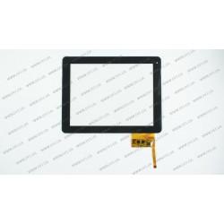 Тачскрин (сенсорное стекло) для DPT 300-L3456B-A00_VER1.0, 9,7, внешний размер 236*183 мм, рабочий размер 198*149 мм, черный