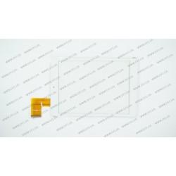 Тачскрин (сенсорное стекло) для Bravis NP844, MF-637-079F-3, 7,85, внешний размер 196*131 мм, рабочий размер 160*120 мм, 45pin, белый