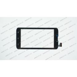 Тачскрин (сенсорное стекло) для Globex GU6011B, HS1300 V0MD601, 6, внешний размер 165*85 мм, рабочий размер 132*74 мм, черный