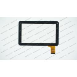 Тачскрин (сенсорное стекло) FPC-TP090005(98VB)-00, 9, внешний размер 232*141 мм, рабочий размер 197*111 мм, 50pin, черный