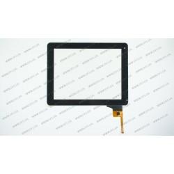 Тачскрин (сенсорное стекло) для DNS AirTab M973G, WJ-DR97010 SR, 9.7, внешний размер 235*184 мм, рабочий размер 198*148 мм, 12 pin, черный