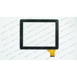 Тачскрин (сенсорное стекло) WJ-DR97020-FCP, 9,7, внешний размер 237*184 мм, рабочий размер 198*150 мм, 54 pin, черный