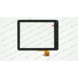 Тачскрин (сенсорное стекло) для Prestigio MultiPad PMP5080B, B130242C1-FPC-V0.1, 8, размер 195*141 мм, 6 pin, черный