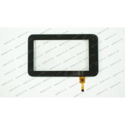 Тачскрин (сенсорное стекло) для GoClever TAB 7500, YC0101, 7, внешний размер 194*116 мм, рабочая область 152*86 мм, 12pin, черный