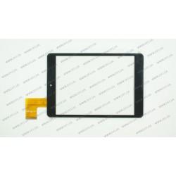 Тачскрин (сенсорное стекло) для Bravis NP844, MF-637-079F-3, 7,85, внешний размер 196*131 мм, рабочий размер 160*120 мм, 45pin, черный