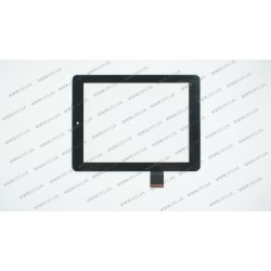 Тачскрин (сенсорное стекло) для Explay Surfer 8.31, 080092-03A-V1, 8, размер 198*149 мм, 40 pin, черный
