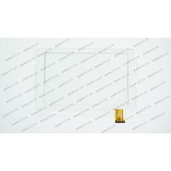 Тачскрин (сенсорное стекло) YTG-G10057-F1 V1.0, 10, внешний размер 257x157 мм, рабочий размер 218*136 мм, белый