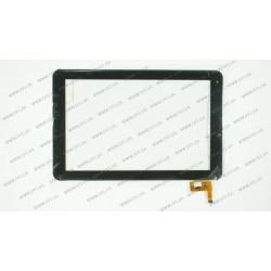 Тачскрин (сенсорное стекло) для Prestigio MultiPad PMP5101C QUAD, 101072-01A-V1 CTP101072-01 V2, 10, размер 256x166 мм, 12pin, черный