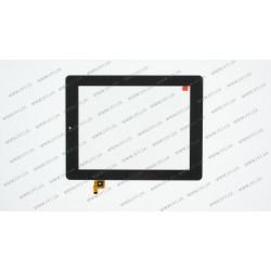 Тачскрин (сенсорное стекло) для Prestigio MultiPad 2 PMP7280C 3G, CTP080088-02, 8, размер 200*153 мм, 9 pin, черный