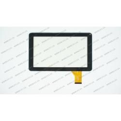 Тачскрин (сенсорное стекло) для DH-0901A1-FPC03-2, 9, внешний размер 233*141 мм, рабочая область 198*112 мм,  50pin, черный