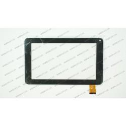 Тачскрин (сенсорное стекло) YJ041FPC-V0, 7, внешний размер 186*111 мм, рабочий размер 155*86 мм, 30pin, черный