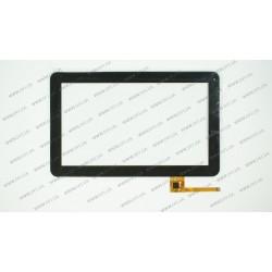 Тачскрин (сенсорное стекло) 072PS_V1.0, 10, внешний размер 257*159 мм, рабочий размер 222*125 мм, 12pin, черный