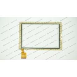 Тачскрин (сенсорное стекло) для TPC0323 VER1.0, 10,1, внешний размер 263*172 мм, рабочая часть 216*136 мм., 60pin, белый