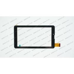 Тачскрин (сенсорное стекло) для Globex GU7015C, FPC-70L1-V01, 7 , внешний размер 184*104 мм, рабочий размер 155*87 мм., толщина 1mm, 30pin, черный