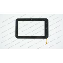Тачскрин (сенсорное стекло) для BenQ R71, WGJ7195-V5, 7, размер 190x116 мм., 10pin, черный