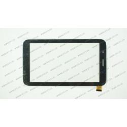 Тачскрин (сенсорное стекло) для Globex GU7080c, PG70086B1,  7, внешний размер 186*105 мм, рабочая часть 150*87 мм., 39 pin, черный