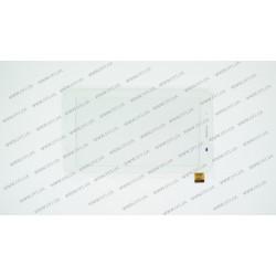 Тачскрин (сенсорное стекло) для Globex GU7080c, PG70086B1,  7, внешний размер 186*105 мм, рабочая часть 150*87 мм., 39 pin, белый