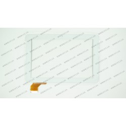 Тачскрин (сенсорное стекло) для IconBIT NETTAB THOR QUAD II NT-1009T, LT10025A0 TCX, 10,1, внешний размер 257*170 мм, рабочий размер 218*137 мм., 50pin, белый