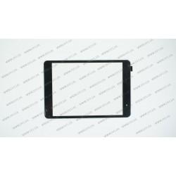 Тачскрин (сенсорное стекло) для Ergo Tab Slim 8GB, MT70817-V0, 7,9, внешний размер 198*133 мм, рабочая часть 160*120 мм, черный