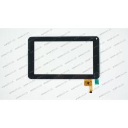 Тачскрин (сенсорное стекло) для IconBIT NT-0701S, FPC-TP070072(DR1334), 7, внешний размер 186*111 мм, размер рабочей части 154*86 мм, 12 Pin, черный