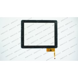 Тачскрин (сенсорное стекло) для Assistant AP-109, 300-L4567K-B00, 9.7, внешний размер 236*183мм, рабочий размер 198*148мм, 12pin, чёрный