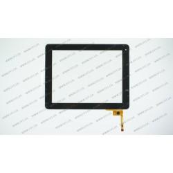 Тачскрин (сенсорное стекло) для GoClever Libra 97, QSD E-C97003-06, 9.7, внешний размер 236*183 мм, рабочий размер 197*148 мм. , 12pin, черный