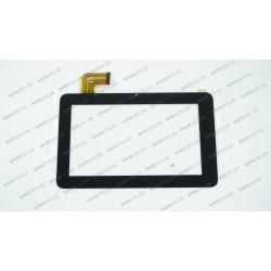 Тачскрин (сенсорное стекло) для Texet TM-7026,  PB70DR9011, 7, размер внешний 188*116 мм, рабочий размер 155*87 мм, 36 pin, черный