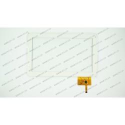 Тачскрин (сенсорное стекло) для Assistant AP-100, AD-C-100050-1, 10,  внешний  размер 257*159 мм, рабочая область 222*125 мм, 12pin, белый