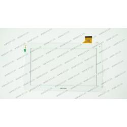 Тачскрин (сенсорное стекло) для Prestigio Wize 3021 3G, QSD 701-10059-02, 10,1, внешний размер 257*159 мм, рабочий размер 224*126 мм., 45pin, белый