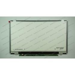 Матрица 14.0 LP140WH8-TLA1 (1366*768, 40pin, LED, SLIM (вертикальные ушки), глянец, разъем справа внизу, W=320mm) для ноутбука