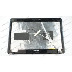 Крышка дисплея для ноутбука Toshiba (L600, L645, L640 + петли), black