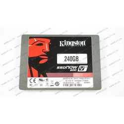Жесткий диск SSD Kingston 240Gb, SVP200S3B7A/240G, SSDNow V+200 (Bundle), MLC, SATA III 6Gb/s, 2.5 , зап/чт. - 480/535мб/с