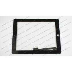 Тачскрин (сенсорное стекло) для Apple iPad 3, 4, 9.7, черный